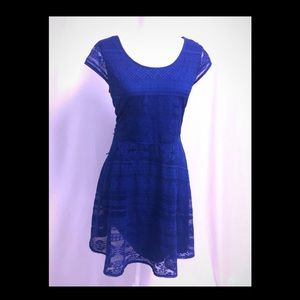Xhilaration short royal blue skater dress